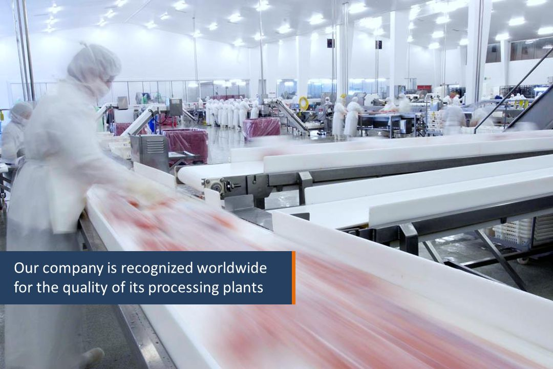 27 Our company is recognized worldwide for the quality of its processing plants