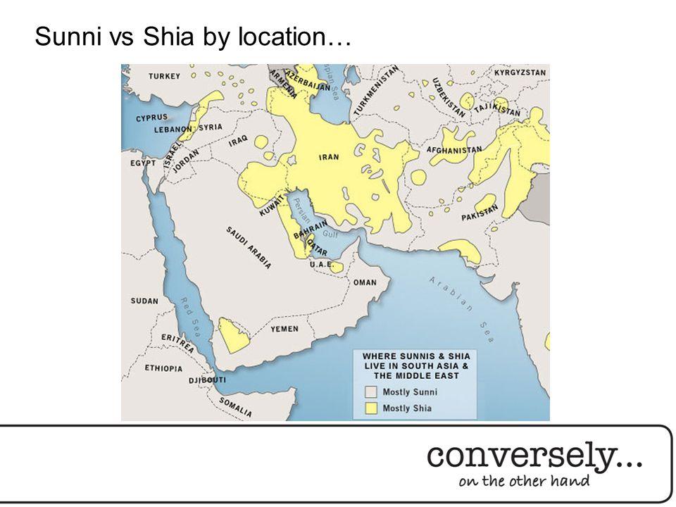 Sunni vs Shia by location…