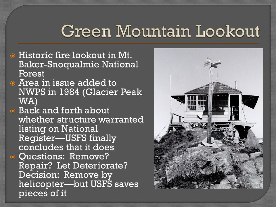  Historic fire lookout in Mt.