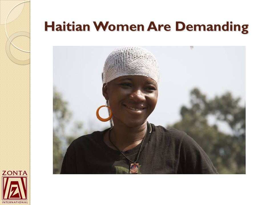 Haitian Women Are Demanding