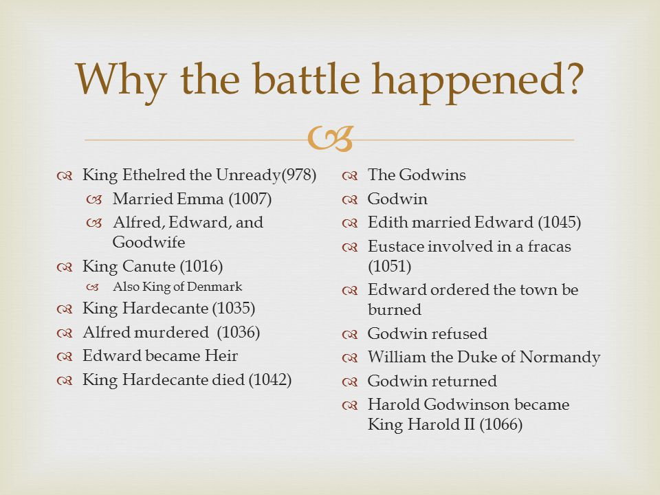  Why the battle happened.