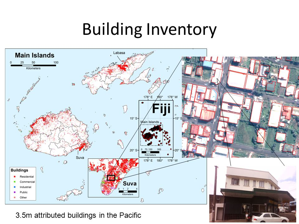 Building Inventory 3.5m attributed buildings in the Pacific