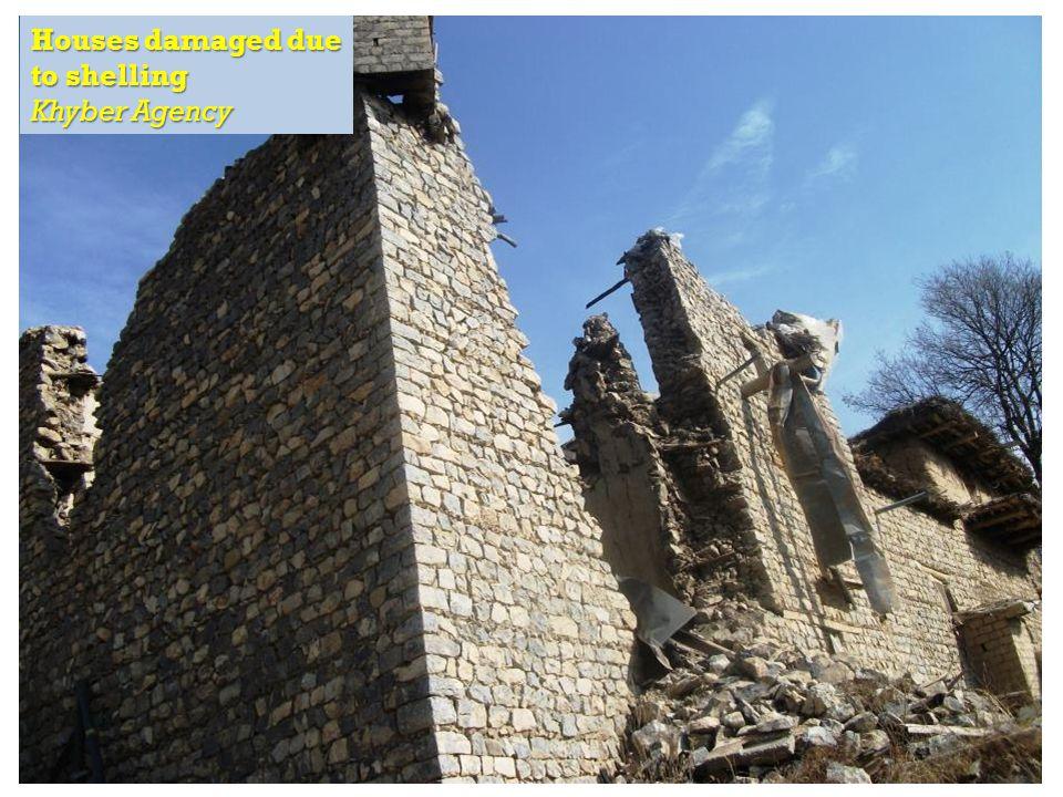 RAPID Fund presentation for Effective Development Conference, Bangkok Houses damaged due to shelling Khyber Agency