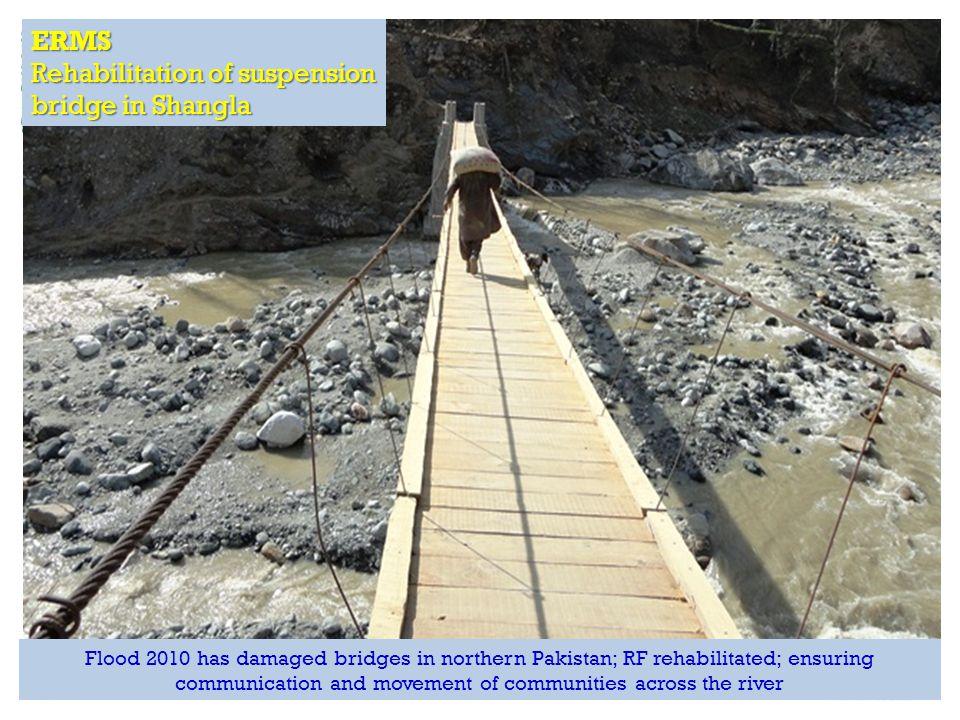 RAPID Fund presentation for Effective Development Conference, Bangkok ERMS Rehabilitation of suspension bridge in Shangla Flood 2010 has damaged bridg