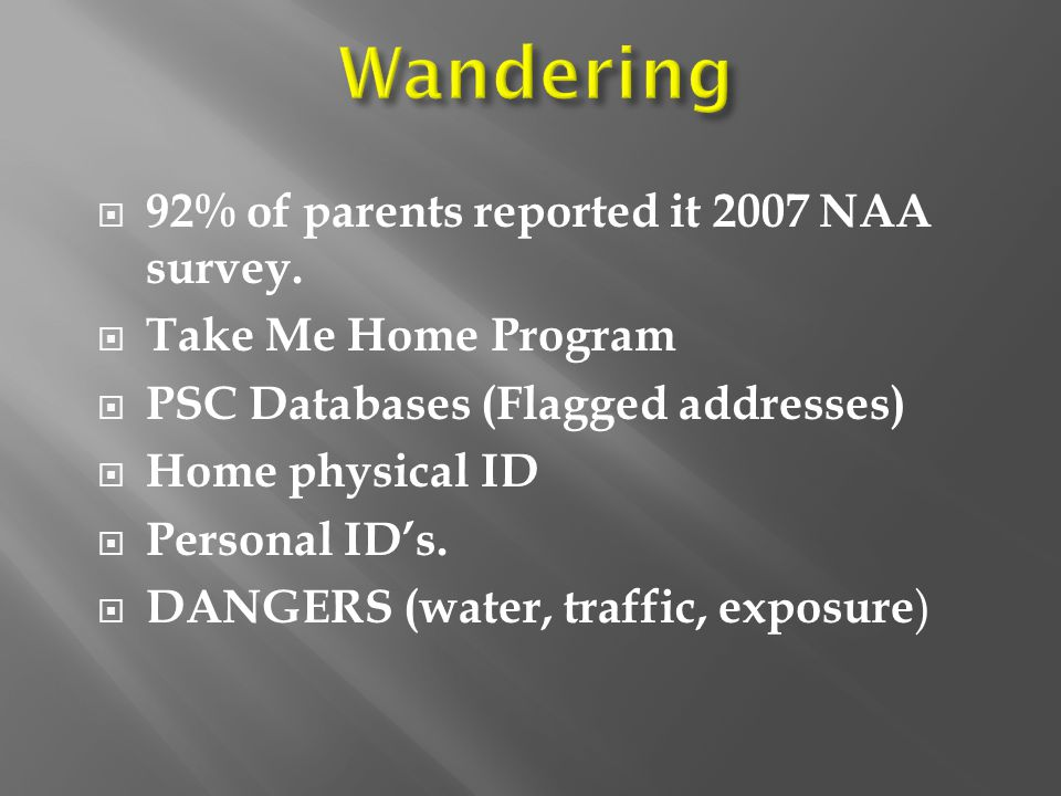  92% of parents reported it 2007 NAA survey.