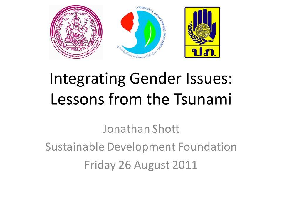 Disaster Management Field Manual: Gender Perspectives