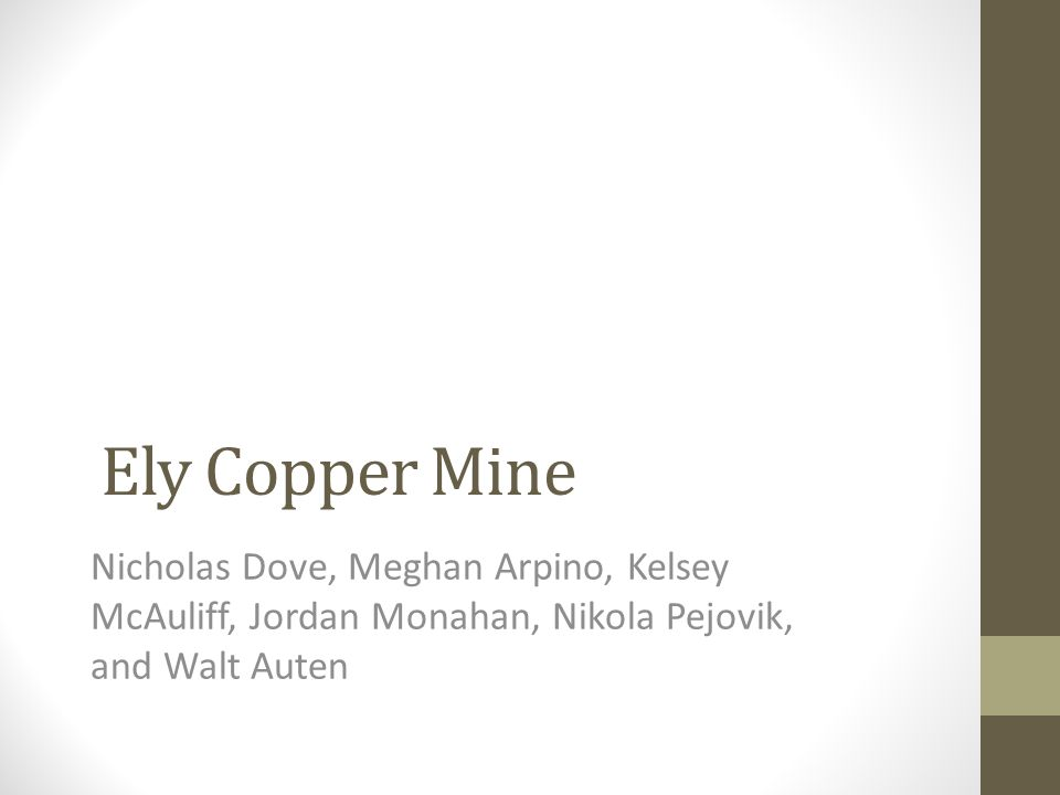 COPPER (Cu) Mined primarily in North and South America Ranks behind only iron and aluminum in quantity consumed in America 570 known alloys including brass and bronze Integral to plumbing, electrical wiring, telecommunications and automobile construction Estimated that Americans born in 2008 will use roughly 1,300 lbs throughout their lifetime 20 mines account for 99% of copper production in U.S.