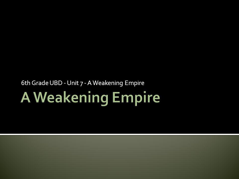 6th Grade UBD - Unit 7 - A Weakening Empire