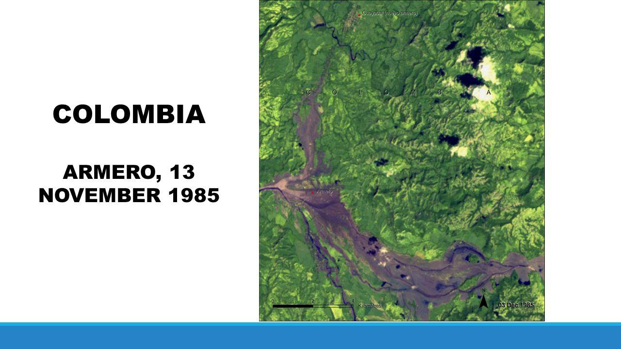 COLOMBIA ARMERO, 13 NOVEMBER 1985