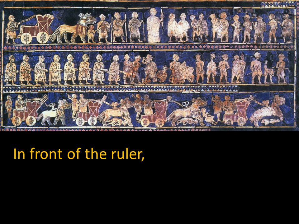 In front of the ruler,