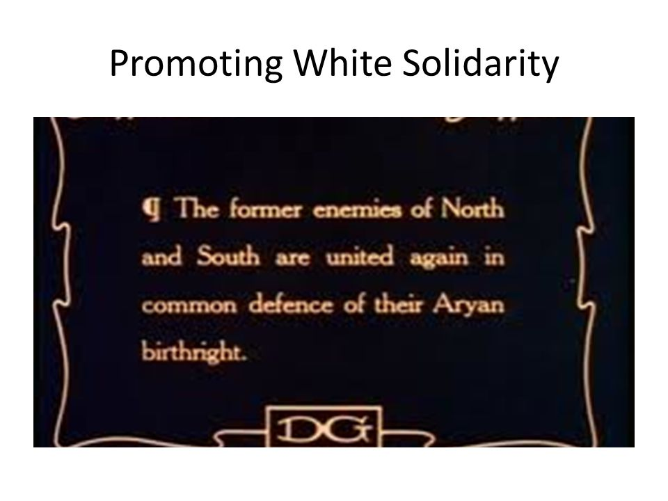 Promoting White Solidarity