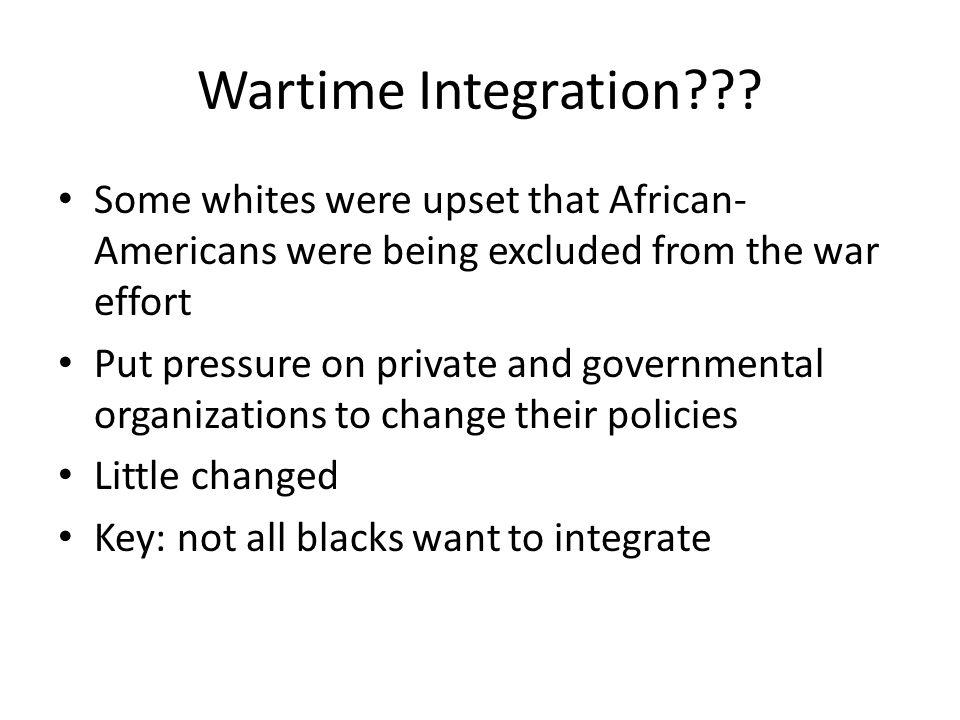 Wartime Integration .