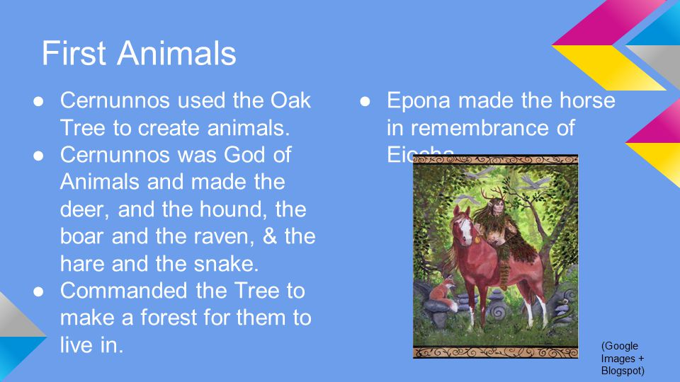 First Animals ●Cernunnos used the Oak Tree to create animals.