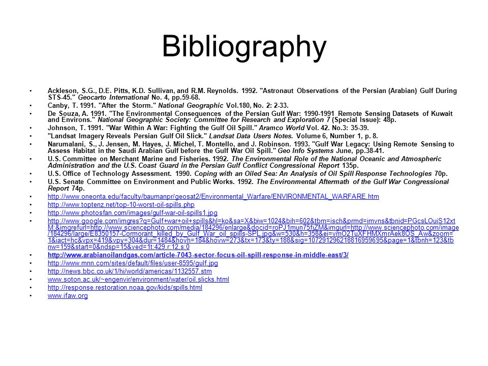 Bibliography Ackleson, S.G., D.E. Pitts, K.D. Sullivan, and R.M.
