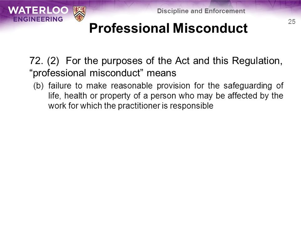 Professional Misconduct 72.