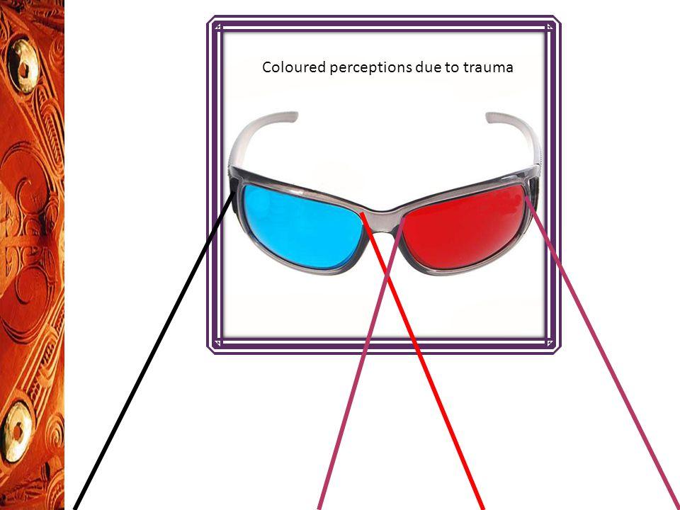 Coloured perceptions due to trauma