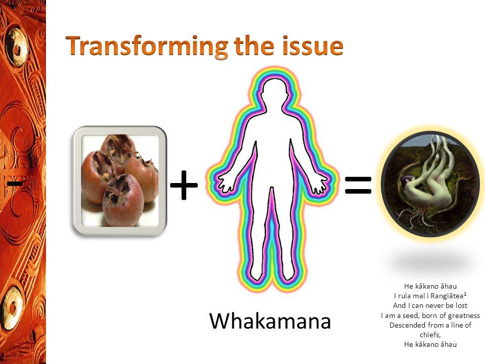 - =+ Whakamana He kākano āhau I ruia mai i Rangiātea 1 And I can never be lost I am a seed, born of greatness Descended from a line of chiefs, He kākano āhau