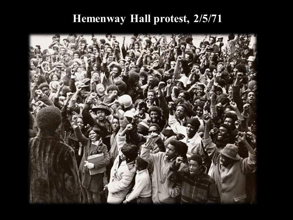 Hemenway Hall protest, 2/5/71