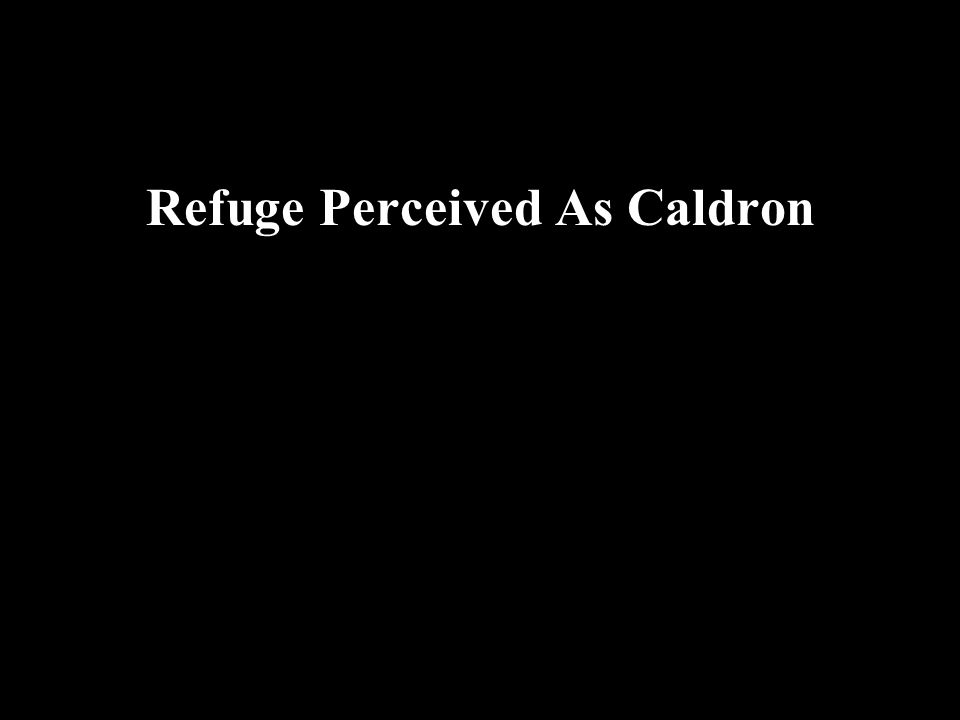 Refuge Perceived As Caldron