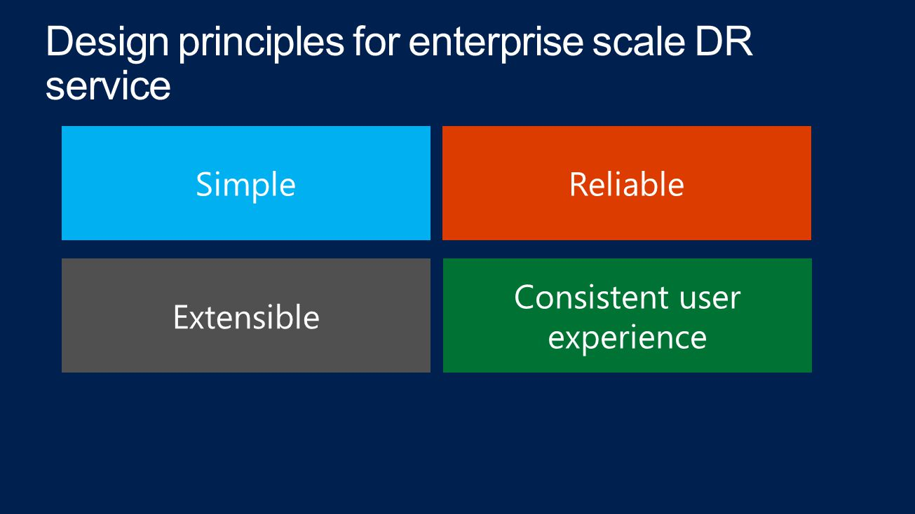 SimpleReliable Extensible Consistent user experience