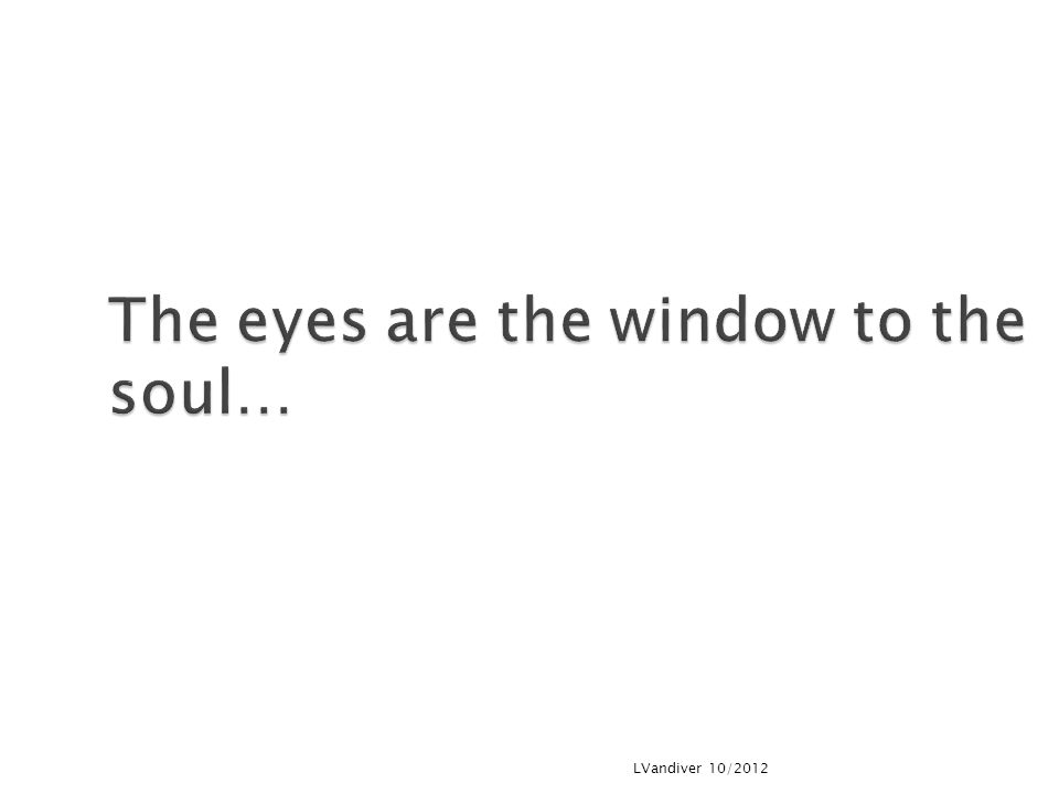 The eyes are the window to the soul… LVandiver 10/2012