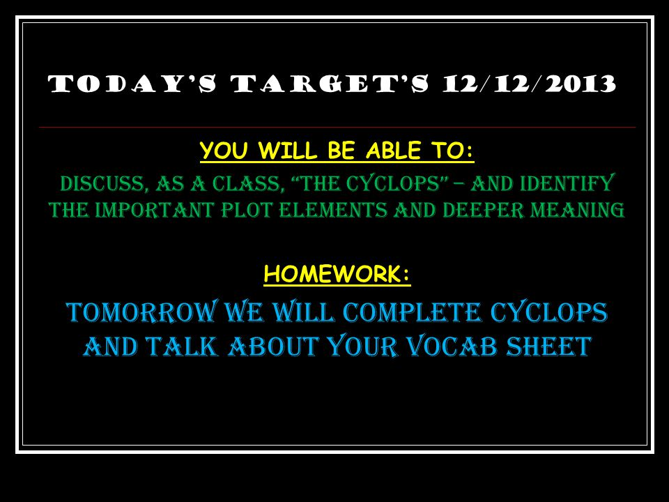 """""""The Cyclcops"""" 1.) You need your packets out 2.) You need your book open to page 1050 3.) Something to write with 4.) Get together with your group – c"""