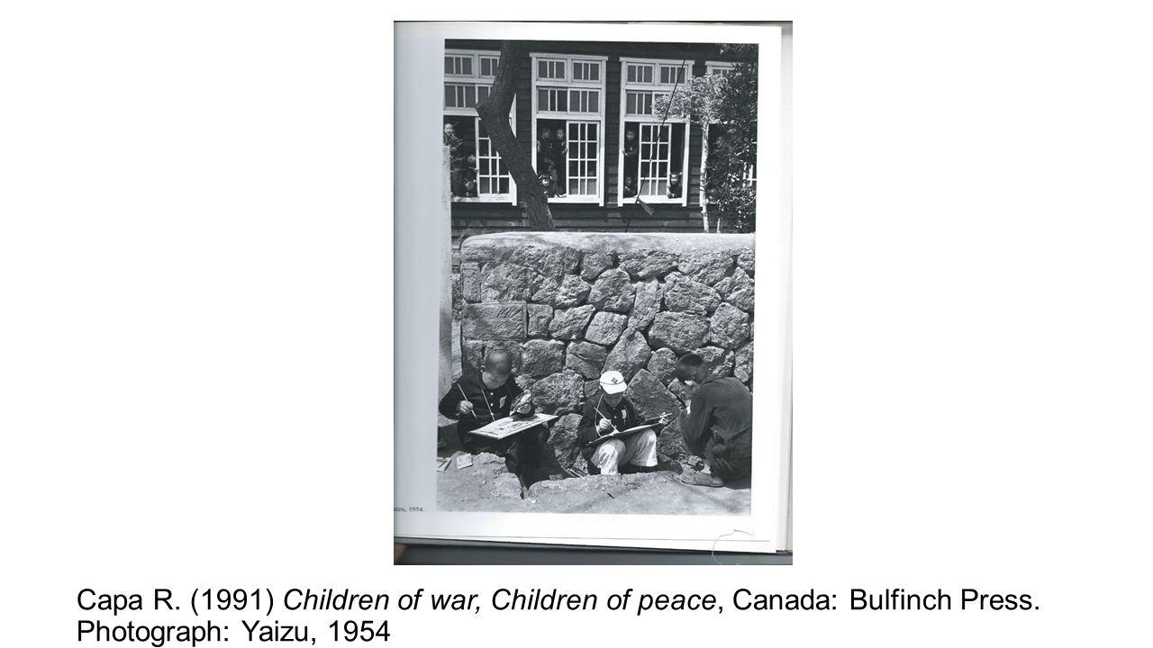 Capa R. (1991) Children of war, Children of peace, Canada: Bulfinch Press. Photograph: Yaizu, 1954