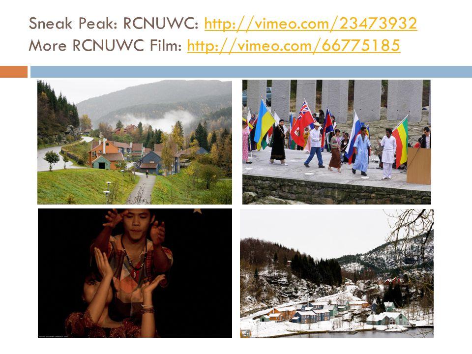 Sneak Peak: RCNUWC: http://vimeo.com/23473932 More RCNUWC Film: http://vimeo.com/66775185http://vimeo.com/23473932http://vimeo.com/66775185