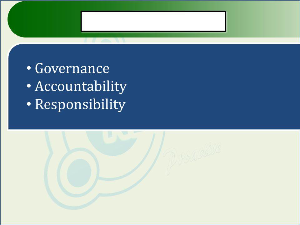 Governance Accountability Responsibility