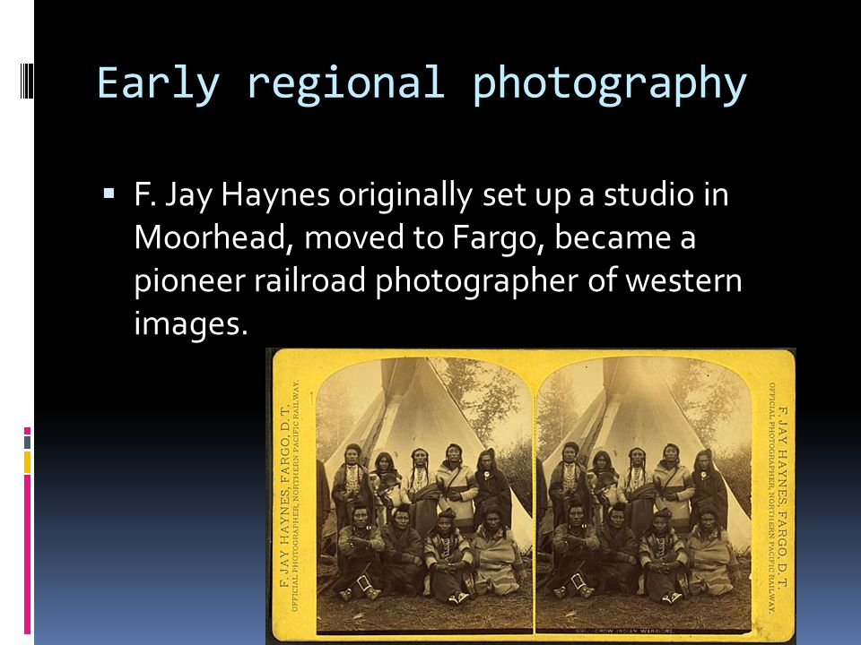 Early regional photography  F.