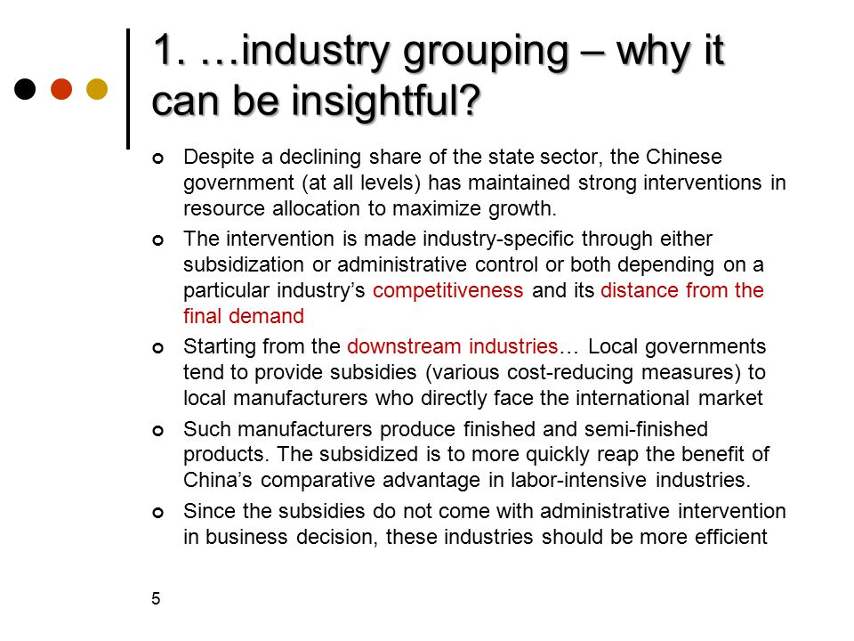 1. …industry grouping – why it can be insightful.