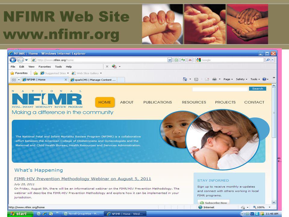 NFIMR Web Site www.nfimr.org