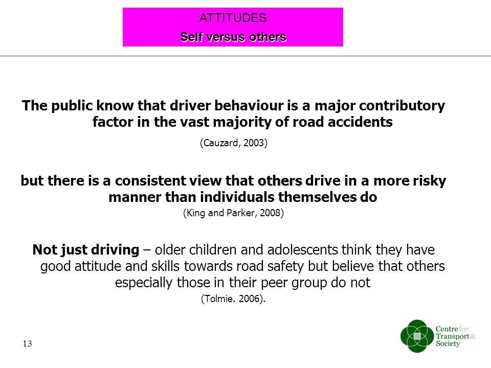 The public know that driver behaviour is a major contributory factor in the vast majority of road accidents (Cauzard, 2003) others but there is a cons