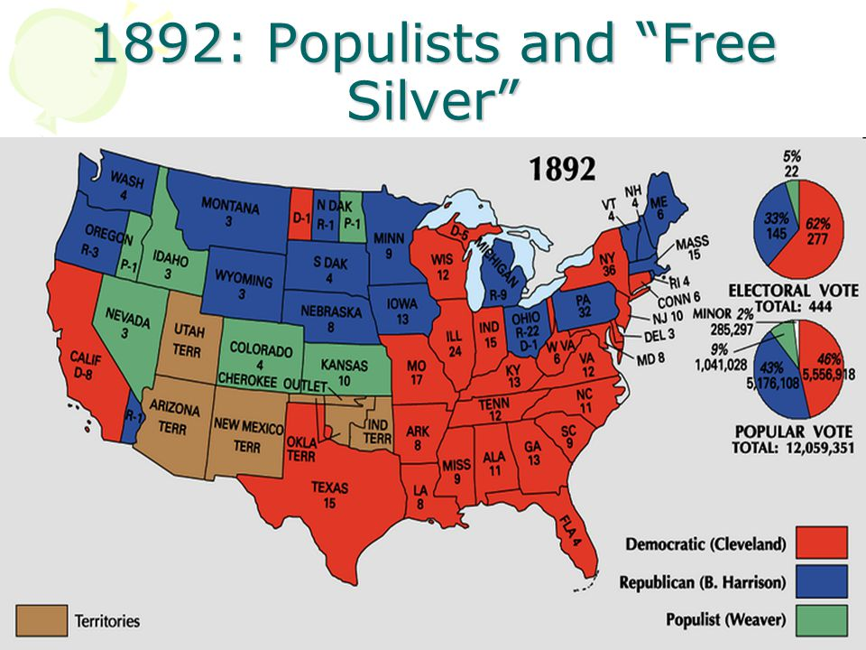 1892: Populists and Free Silver