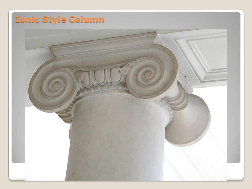 Ionic Style Column