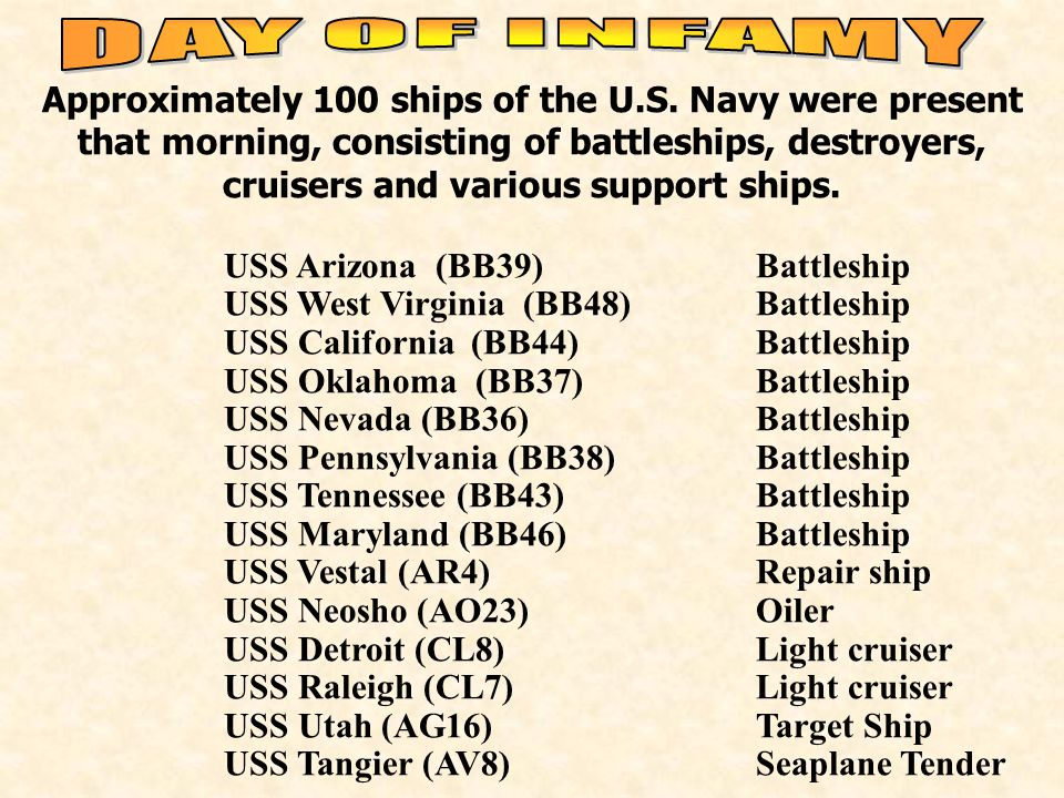 Approximately 100 ships of the U.S.