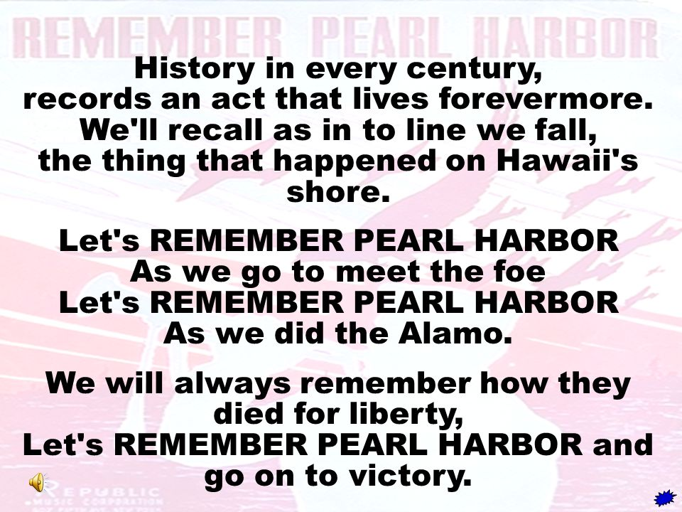 History in every century, records an act that lives forevermore.