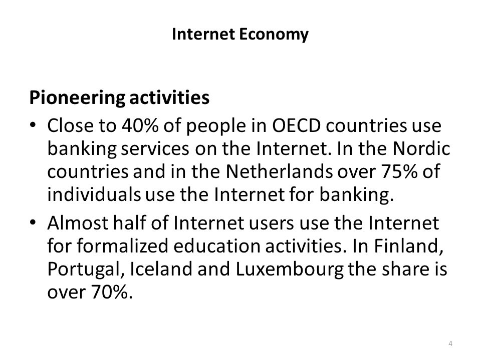 Internet Economy Future: Positive: – Replacing traditional channels of commerce – Internet of things – Zero marginal cost society (better use of resources) – Near free services and goods – Private currencies Negative: – Net segmentation – Net filtering (censorship) – Lost privacy – Hacking to destruction (latest Sony case) 25