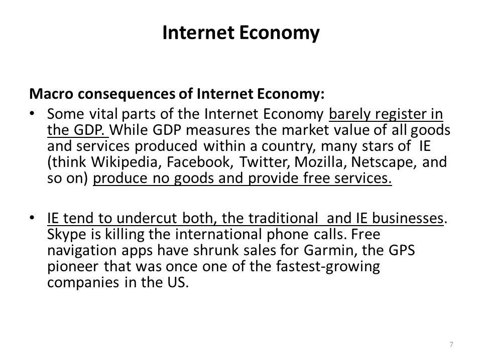 Internet Economy Digital divide.