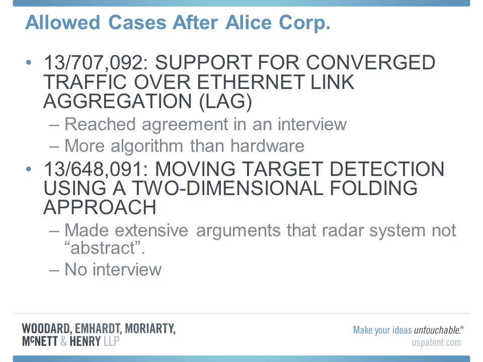 Allowed Cases After Alice Corp.
