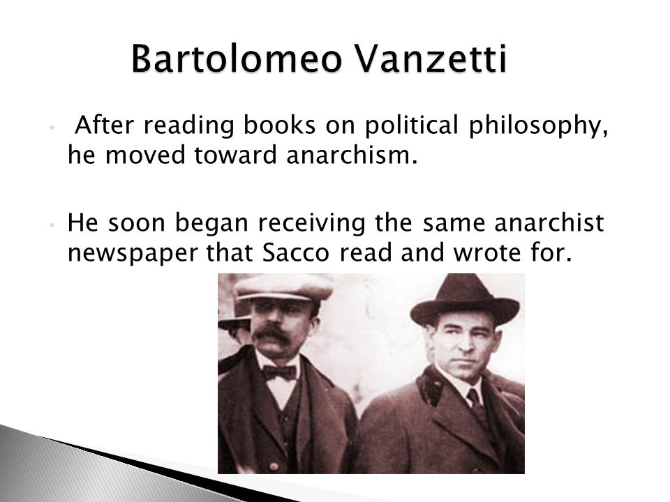 After reading books on political philosophy, he moved toward anarchism.