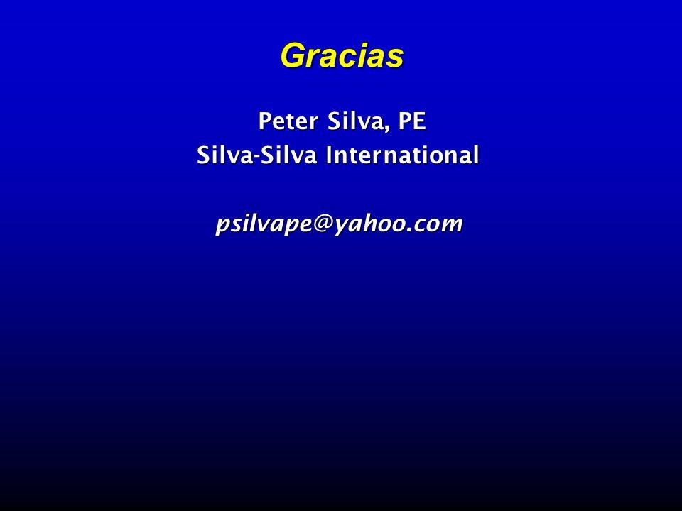 Gracias Peter Silva, PE Peter Silva, PE Silva-Silva International psilvape@yahoo.com