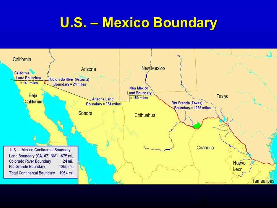 6 U.S. – Mexico Boundary