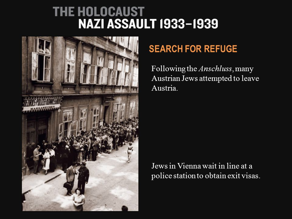 Following the Anschluss, many Austrian Jews attempted to leave Austria.
