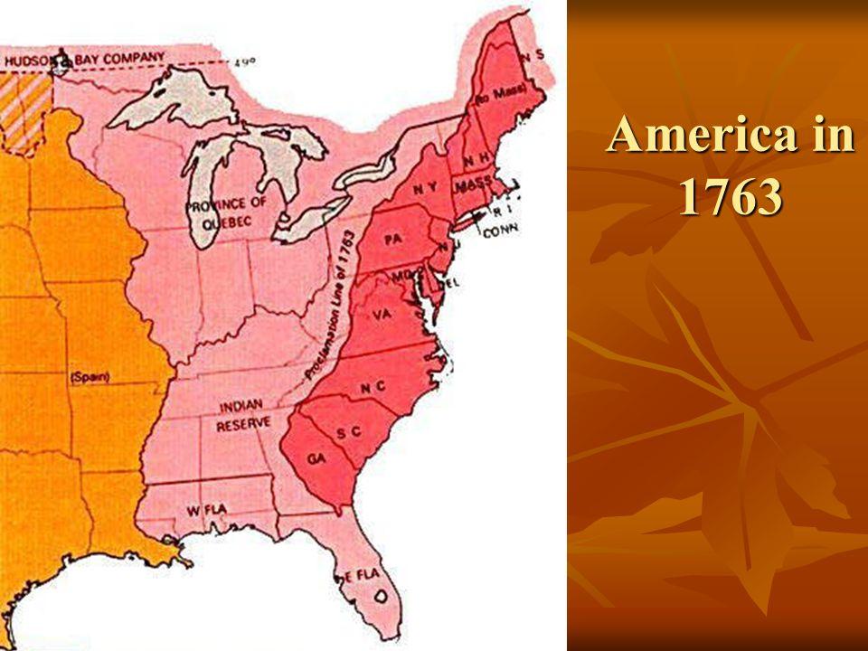 America in 1763