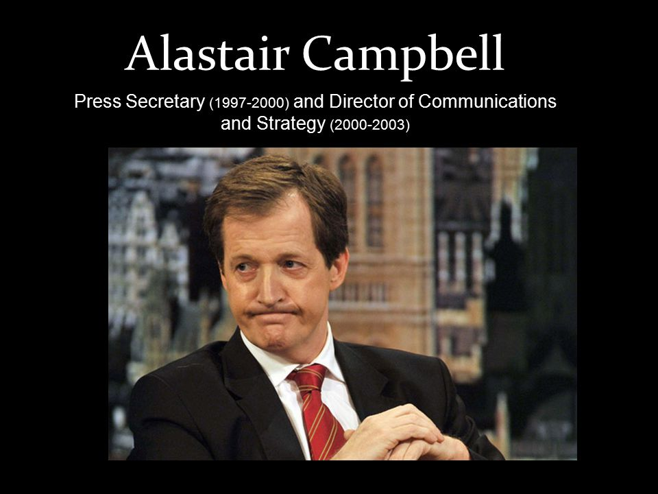 Alastair Campbell Press Secretary (1997-2000) and Director of Communications and Strategy (2000-2003)