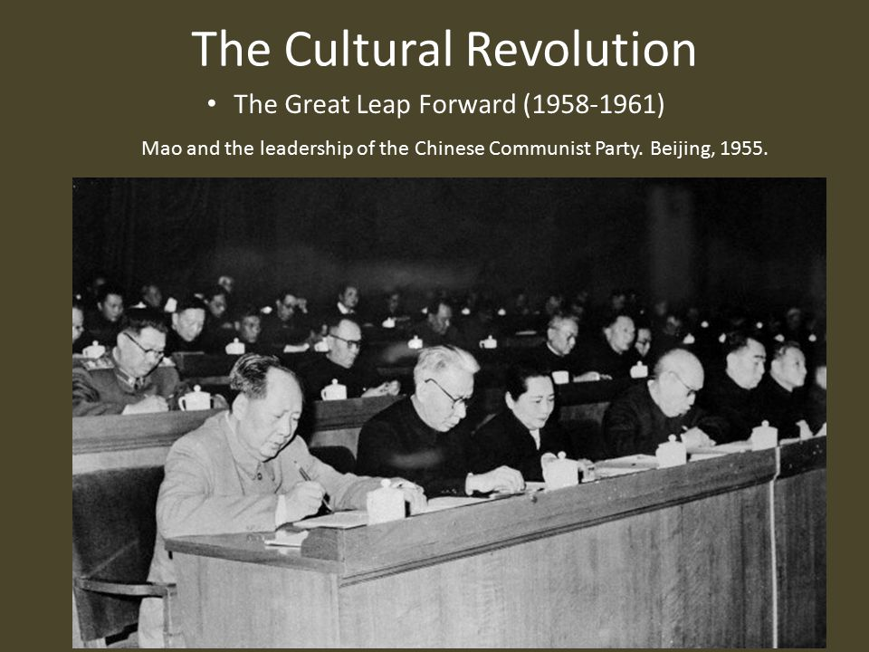 The Cultural Revolution The Great Leap Forward (1958-1961) Mao and the leadership of the Chinese Communist Party.