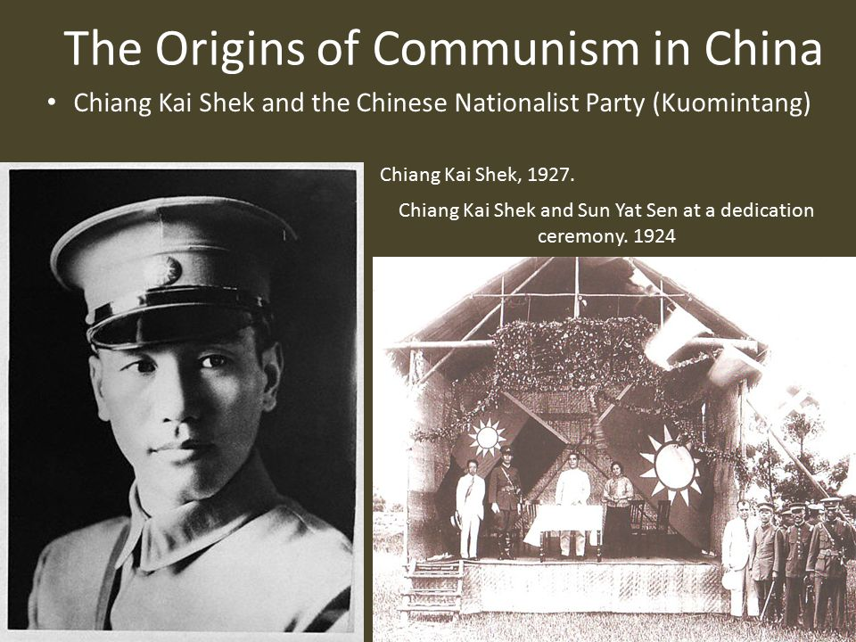 The Origins of Communism in China China & World War II (1931-1945) Mao Zedong and Chiang Kai Shek celebrating Chinese victory in World War II.