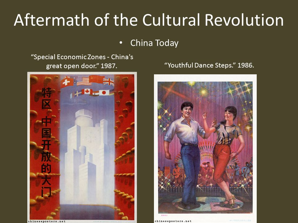 Aftermath of the Cultural Revolution China Today Special Economic Zones - China s great open door. 1987.