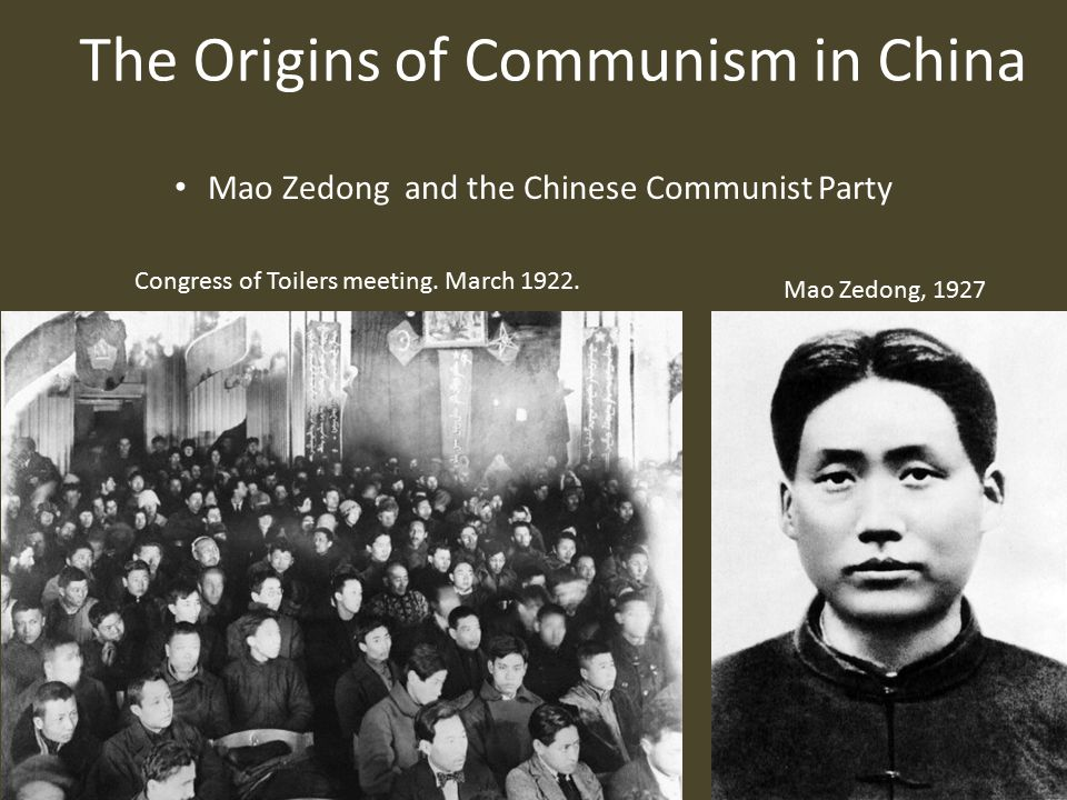 The Origins of Communism in China Communist Victory (October 1949) Chinese Red Army on the march to Shanghai, May 1949.